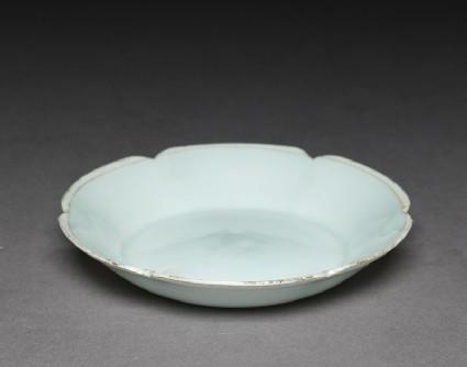 White ware dish with lobed lip