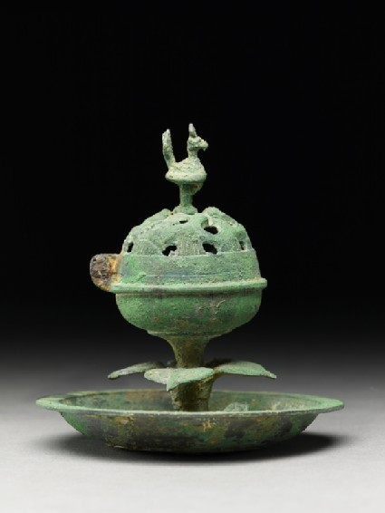 Boshanlu, or hill censer, surmounted by a bird