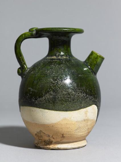 Green-glazed ewer