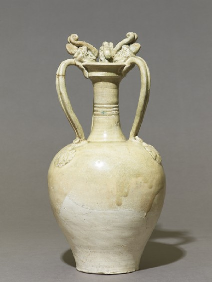 White ware amphora with handles in the form of dragons