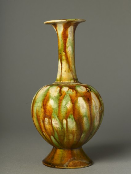 Vase with three-colour glaze