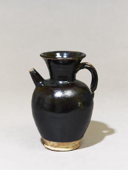 Black ware ewer with iron glaze