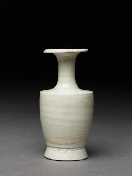 Miniature white ware vase