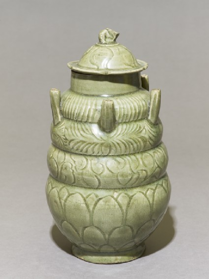 Greenware burial vase with spouts
