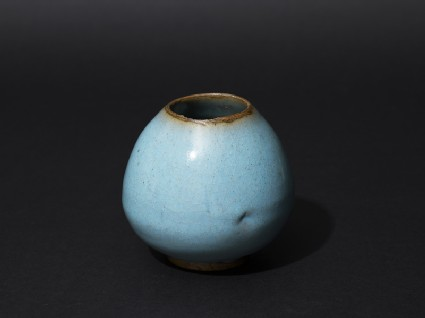 Jar with blue glaze