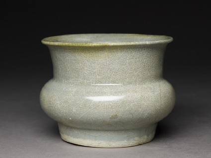 Greenware jar in the style of Guan ware