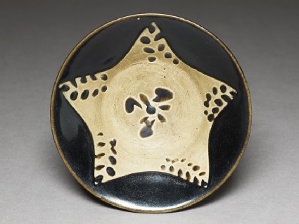 Black ware bowl with star
