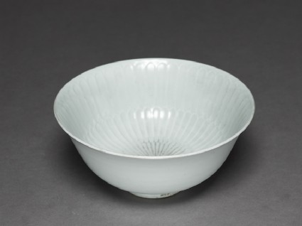 White ware bowl with fluted decoration