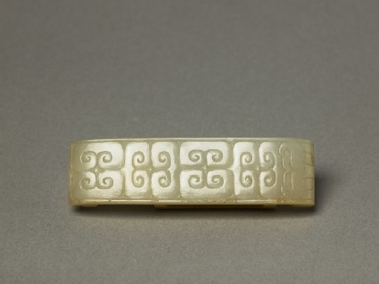 Ritual jade in the form of a sword slide