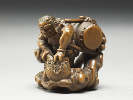 Netsuke in the form of Raiden, the god of thunder