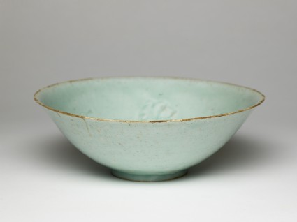 White ware bowl with flowers