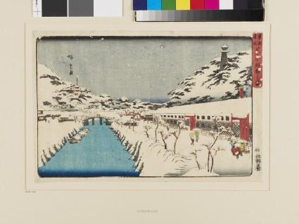 Snow at Akabane in Shiba