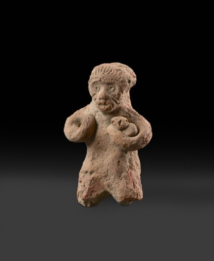 Figure of a monkey with a baby