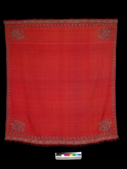 Kashmir shawl with flowers and buta