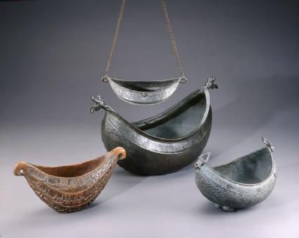 Kashkul, or begging bowl, in the form of a boat