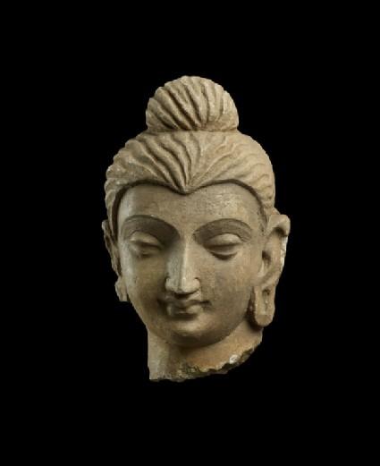 Small head of a Buddha