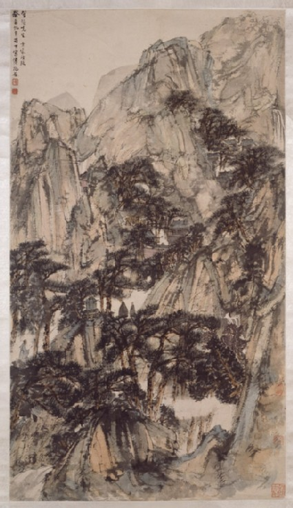Landscape with mountains and trees