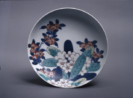 Dish with rhododendrons and azaleas
