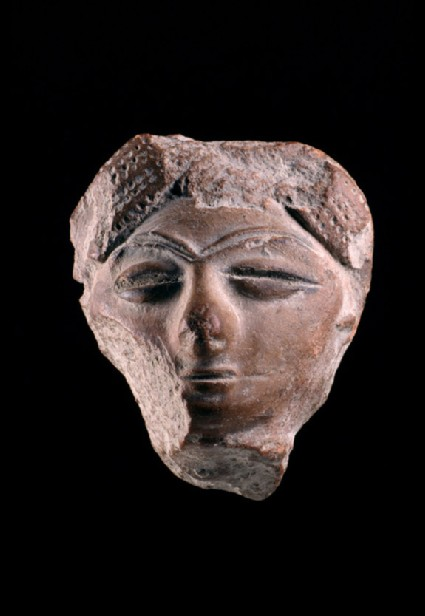 Head of a figure, perhaps female