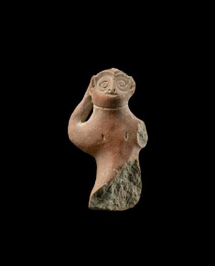 Fragmentary figure of a monkey
