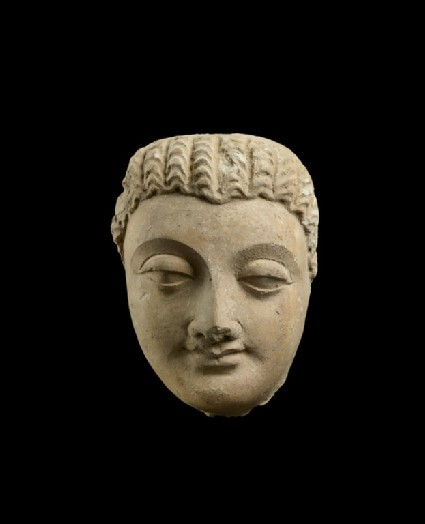 Sculpture of a Head of Buddha