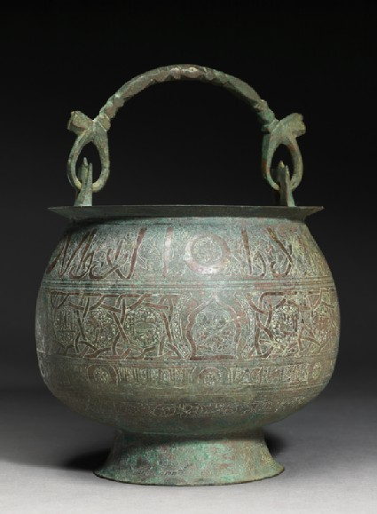Bucket inscribed with good wishes and zodiacal signs