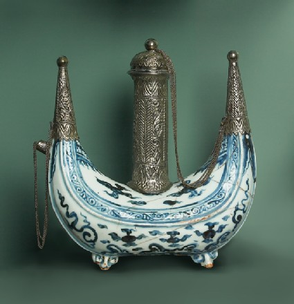 Kendi with Malay silver mounts