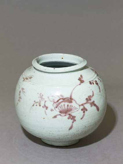 Jar with floral sprays
