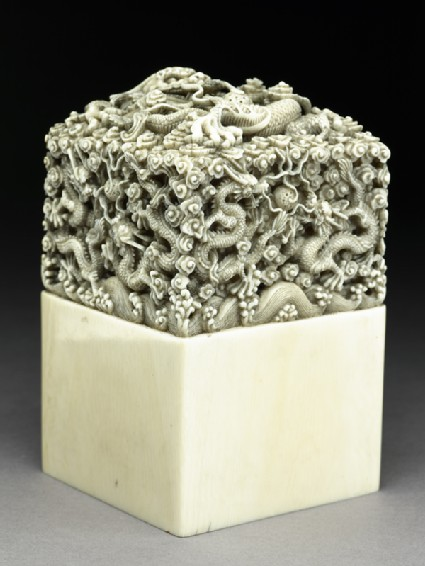 Ivory seal with dragons