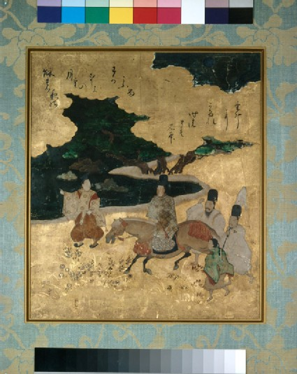 Genji travelling by night, from the Tale of Genji