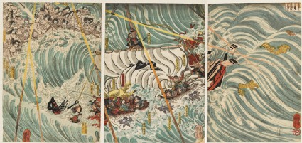 The Taira Ghosts Attacking Yoshitsune's Ship
