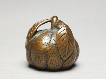 Netsuke in the form of a lobed fruit