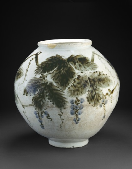 Vase with grape vine