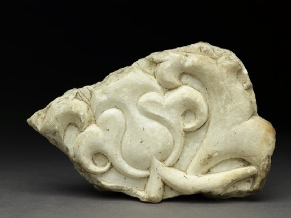 Fragment of an architectural frieze with lotus blossom and half-palmette