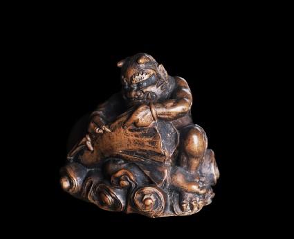 Netsuke in the form of Fūjin, the god of wind