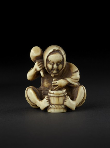 Netsuke in the form of a cooper