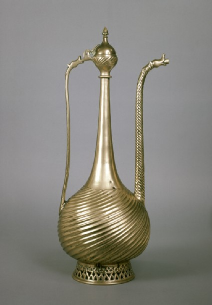Brass ewer with dragon heads
