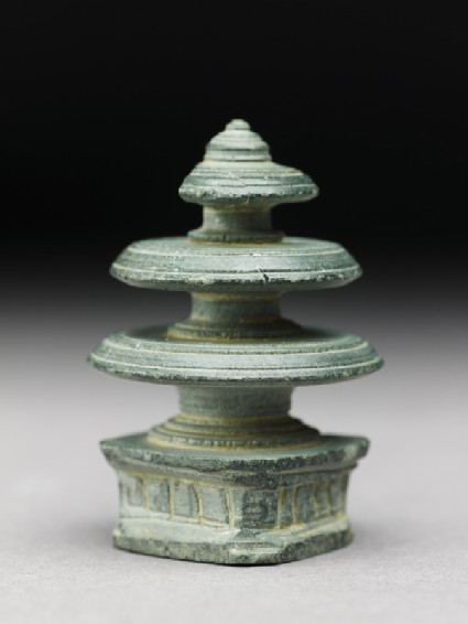 Harmika finial of a reliquary in the form of a stupa