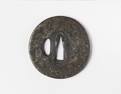 Round tsuba with no design