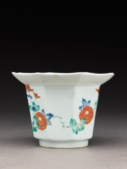 Tall bowl with chrysanthemum sprays