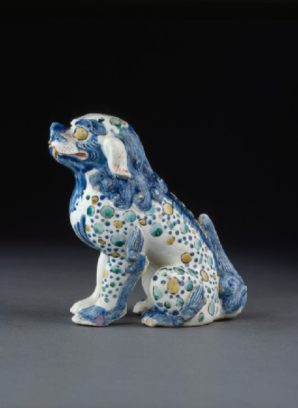 Seated figure of a shishi, or lion dog