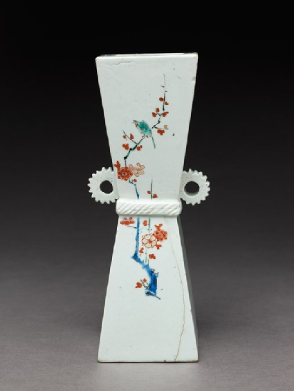 Wall vase with prunus sprays and birds