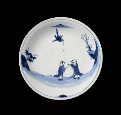 Dish with figure decoration