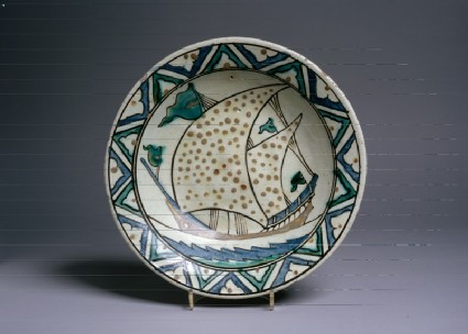 Dish with ship