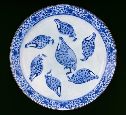 Dish with quails