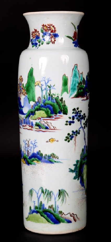 Vase with figures in a landscape