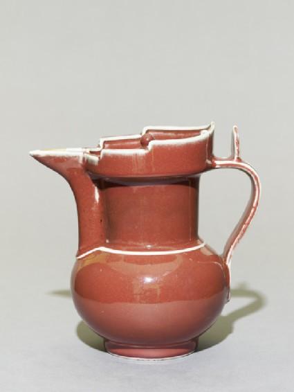 Porcelain ewer in the form of a Tibetan monk's cap