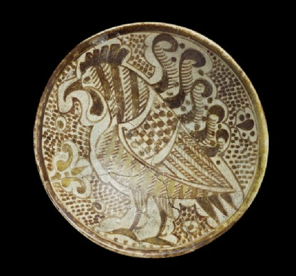 Saucer with cockerel