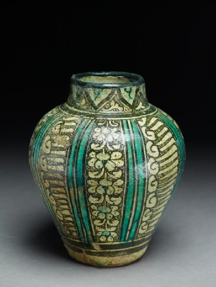 Jar with panels