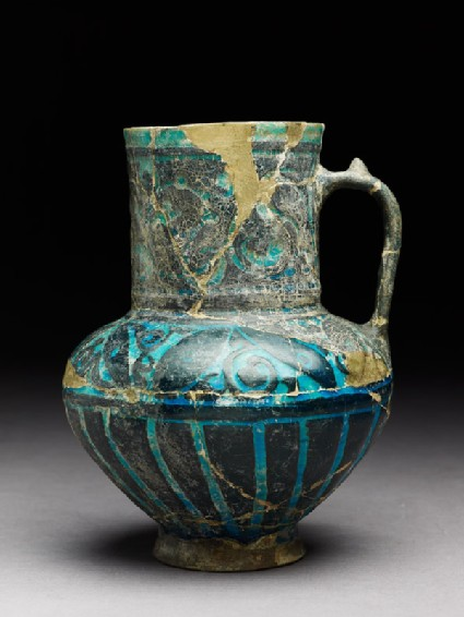 Jug with floral shapes